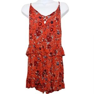 New! American Eagle Floral Romper Size 4